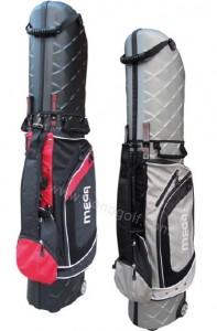 捍衛者航空球袋II(硬殼)2種顏色選擇,黑和銀(內建輪子,方便拖拉)適合經常出國旅行打球者!!